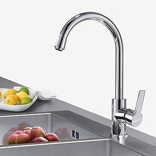 3769753fbb09 ieGeek Grifo de cocina de 360 °Giratorio, 2 funciones Grifo Cocina,  Grifería para