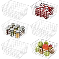 6-Pack Cambond Wire Durable Metal Bin Baskets
