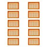 Lot de 10 filtres plats pour aspirateur Kärcher multi-usages + aspirateur sec/humide | MV4 + MV5 + MV6 + WD4 + WD5 + WD6 | comme...