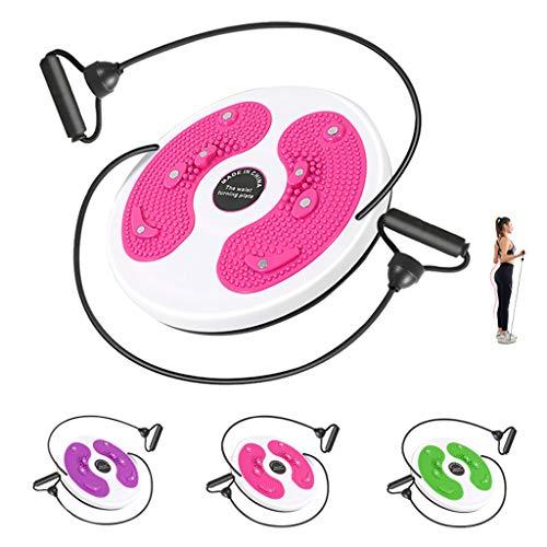 Disco Fitness Aerobico Con Coulisse Particelle Di Massaggio Tavola Twist Fitness Piastra Twister A Forma Di Corpo casa Attrezzatura Sportiva Muscoli Addominali Fianchi Gamba Caviglia Del P(Color:rosa)