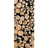 Textil-Banner mit gestapelten Baumstämmen 100% Polyester Motivbanner