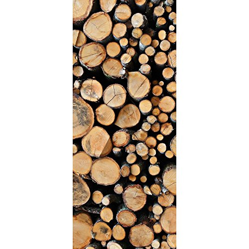 Textil-Banner mit gestapelten Baumstämmen (Displaybanner) 100{659abe38485a0a047376575533741d3ed222d917cb884cfe1e828bccde7c0e6f} Polyester Motivbanner