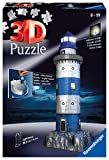 Ravensburger- Lighthouse at Night puzzle phare, Color autre (125777) , color, modelo surtido