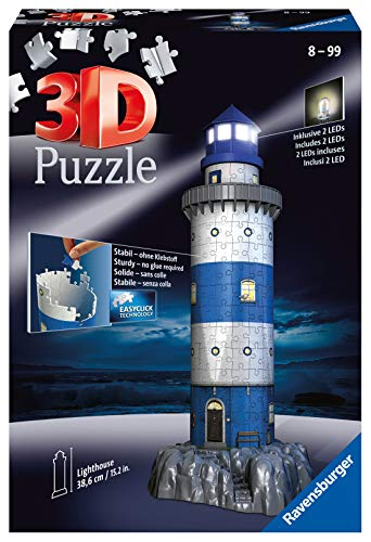 Imagen del producto Ravensburger- Lighthouse at Night puzzle phare, Color autre (125777) , color, modelo surtido