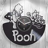 Ollmp Winnie The Pooh Kid Cartoon Girl miglior Regalo, Ragazzo, Bambino, Bambino, Kid Room Wall Art, Decorazione Orologio da Parete in Vinile, Decorazione, Design Unico