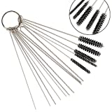 1 SET 4 Inch :10x Cleaning Needles 5x Cleaning Brushes Stainless steel wire winding, rust, flexible handle, no deformation High density nylon, good elasticity, no hair loss
