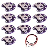 Youmile 10Pack Coin Cell Battery Holder Lilypad CR2032 Módulo de montaje de batería para Arduino Small Slide Switch Board DIY Kit