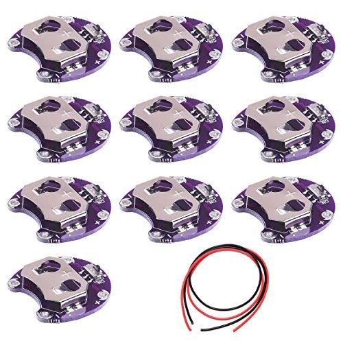 Youmile 10PACK Knopfzellen-Batteriehalter Lilypad CR2032 Batteriemontagemodul für Arduino Small Slide Switch Board DIY Kit