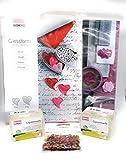 Juego de manualidades grande para moldear jabón con jabón vegano de glicerina, pétalos de rosa y molde para moldear, jabón DIY