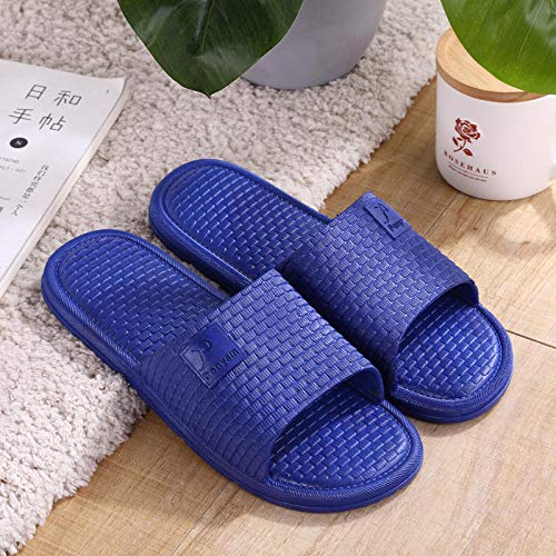 quming Zapatos Playa Piscina para Zapatos debaño Verano,Sandalias de Interior de Suela Blanda, Zapatillas cómodas Antideslizantes en baño-Azul Marino_42-43