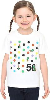 (グラニフ) graniph 【 限定 】 キッズ コラボ Tシャツ !! 「 はらぺこあおむし 」 発行 50周年 記念 カラフルドット (エリック カール) (ホワイト) キッズ (g28)