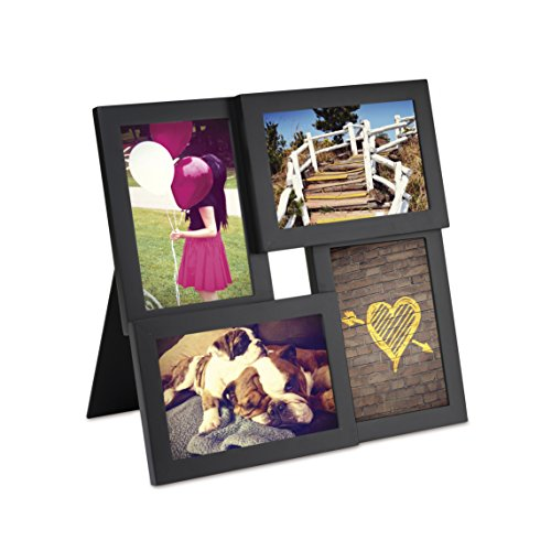 Umbra Pane, Multi 4x6 Picture Frame Collage for Desktop, Black