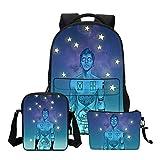 XTYZY Gilr School Mochilas Fashion 3 PCS Twenty One Pilots Impresión de bolsos de hombro para niñas adolescentes Cool Cortoon Bookbags