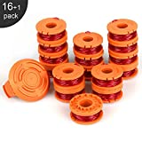 Eventronic Replacement 10ft Grass Trimmer Line Spool, Compatible with Worx String Trimmers (16-Line spools+1 Cap)