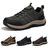 Zapatillas de Senderismo Hombre Transpirable Zapatillas de Trekking Antideslizantes AL Aire Libre Zapatos de Montaña Ejército Verde 39