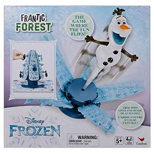 Spin Master Games 6054445 - Frozen Die Eiskönigin Frantic Forest - Kinderspiel mit fliegendem Olaf, ab 5 Jahren