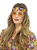 Smiffys Gafas Hippies, Naranja