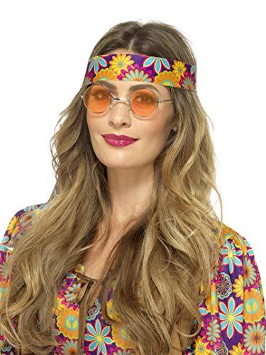 Smiffy's 43060 Gafas hippies, naranja