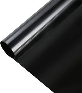 遮光シート 真っ黒 超遮光 遮光シート 窓用フィルム 窓ガラスフィルム ブラック 完全目隠し UVを100%カット 貼り直し可能 日除け 防犯 飛散防止 水で貼れる ブラック 不透明な黒 (44.9cm X 2m)