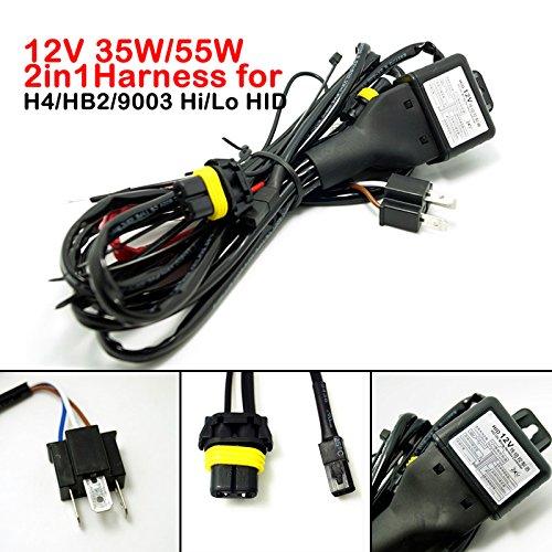 FEELDO 12 V 35 W/55 W 2 en 1 H4/HB2/9003 Hi/Lo faisceau de relais bi-xénon pour HID