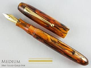 Edison Collier Antique Marble 18K Gold Nib Medium Point Fountain Pen - COLLIER-AM-18M