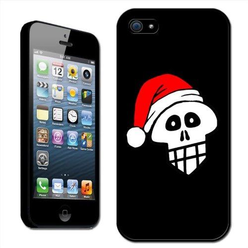 Fancy A Snuggle harde case voor Apple iPhone 5 (opsteekbaar, voor de achterzijde), doodskop met kerstmuts