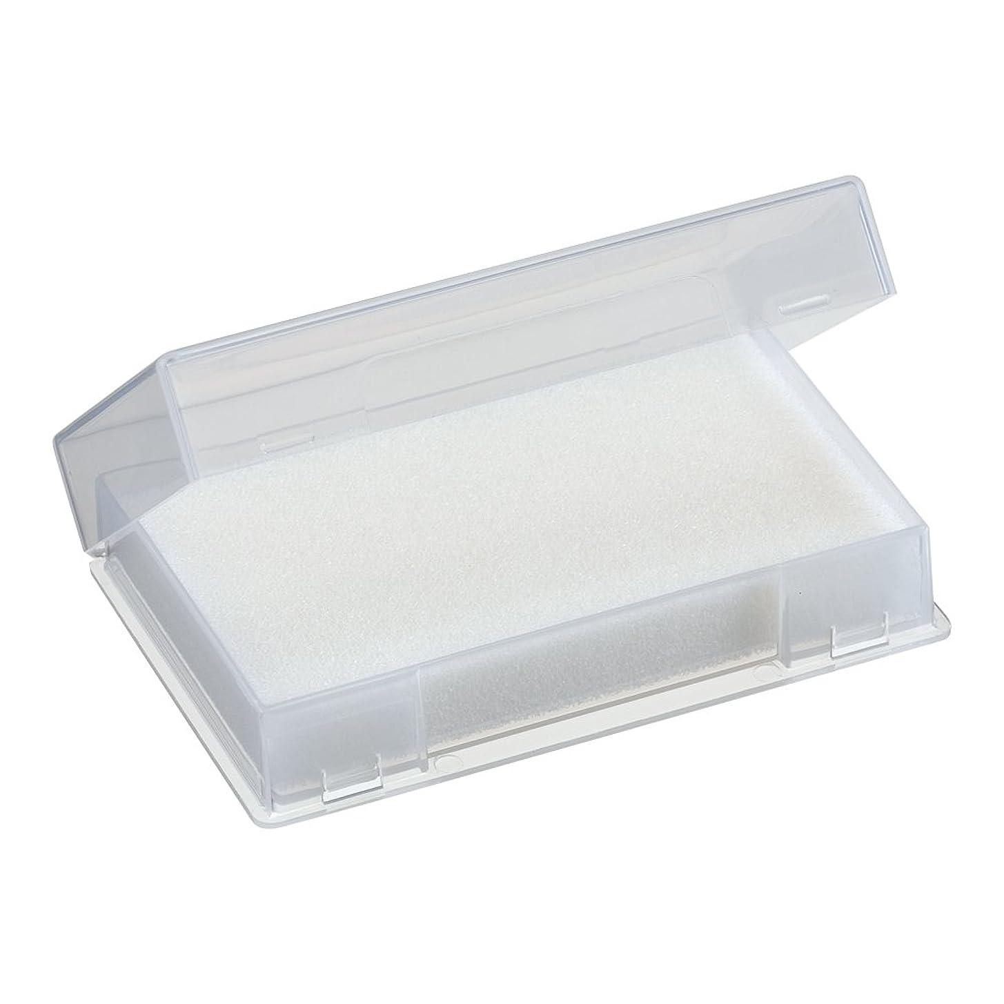 クリーク忍耐チラチラするネイルチップケース ホワイト
