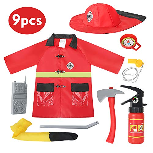 Kids Fireman Costume Role Play Set�…