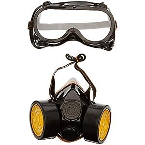 51jorz4wbgL. SS300  - TRIXES 1 x Gafas de Disfraces y 1 x Máscara de Disfraces - Accesorio de Disfraces para el Trabajador de la Construcción Científico Industrial Traje de Cosplay de Halloween de Carnival - Tamaño Adulto