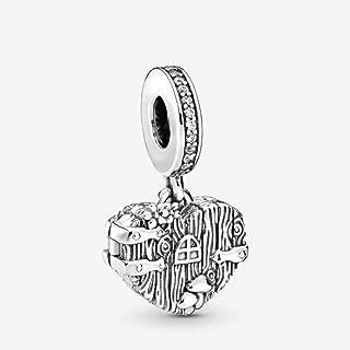 Home Sweet Heart Dangle 925 Sterling Silver Charm - 798284CZ