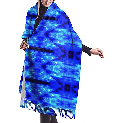 Cathycathy Blue Ice Schal Wrap Winter Warm Schal Cape Large Soft Schal Wrap