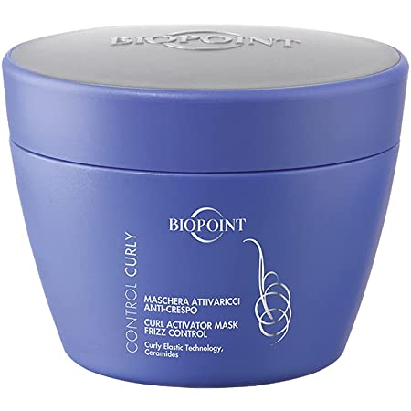 Biopoint Control Curly Maschera Attivaricci, Districa e Nutre in profondità donando Extra Morbidezza e proteggendo i Ricci dall'Effetto Crespo - 200 ml