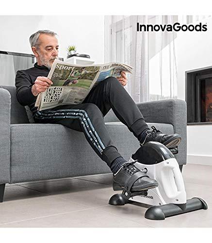 InnovaGoods IG117155 Pedaleador de Fitness, Unisex Adulto, Blanco/Negro, Talla Única