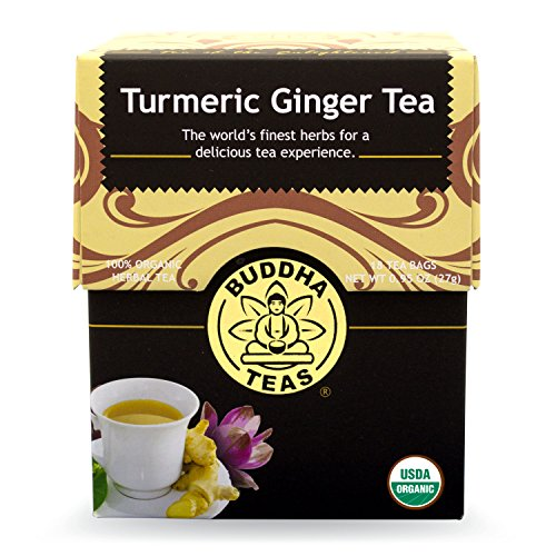 Buddha Teas Turmeric Ginger Tea, 18 Count (Pack of 6)