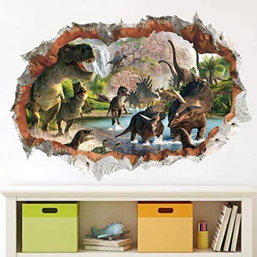 Autocollant 3D Stickers Muraux En Dinosaures,Pépinière De Sticker Mural Dinosaure,Autocollant Mural Dinosaure Grand,Sticker Mural Dinosaure,Sticker Mural Autocollant Dinosaure