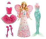 Barbie - BCP36 - Poupée Féerie 3 en 1