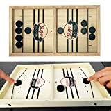 Nensiche Family Games Toys Table Desktop Battle 2 in 1 Ice Hockey Game, Board Toys Family Affection Games Puck Game Funny classic battle board games (Black Chess piece * 10, small)