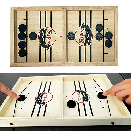 Funny Classic Battle Board Table Desktop Battle 2 In 1 Ice Hockey Game for Ages 7 and Up Adults or Kids