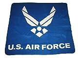K's Novelties U.S. Air Force Wings Blue 50'x60' Polar Fleece Blanket Throw Warm