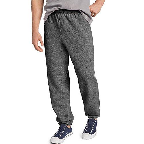 Hanes Mens ComfortBlend EcoSmart Sweatpants, L, Charcoal Heather
