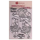 Woodware Jane Gill Clear Magic Stamp-Dancing Hühner, A6 -