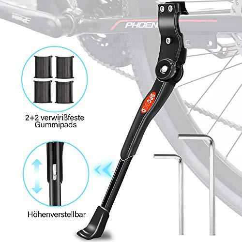 SPGOOD Fahrradständer für 24-28 Zoll Faltbarer Einstellbarer Universal Ständer , Ständer mit Anti-Rutsch Gummifuß Aluminiunlegierung , für Mountainbike, Rennrad, Fahrräder und Klapprad