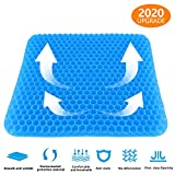 Cyanbamboo Gel Seat Cushion,Egg Sitter Cushion Comfortable and Breathable Honeycomb Design with Non-Slip Cover for Office Chairs Home Car Wheelchair Relieves Sciatica & Back Pain Relief