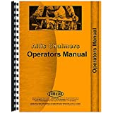 One New Operators Manual Made to Fit Allis Chalmers 1600 Plow Models Interchangeable with RAP65344