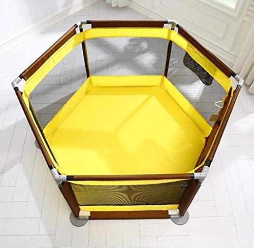 XRFHZT Bébé Jouer Clôture Enfant Clôture Bébé Clôture Ramper Tapis Maison Intérieur Terrain De Jeu,Yellow
