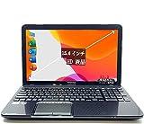 中古ノートパソコン Microsoft オフィス付き 【DynaBook-T552-黒】Core i7 第3世代, 8 GB メモリ, 1000 GB HDD, 15.6型, 内臓カメラ, Blu-Ray DVD, 内蔵Wi-Fi, HDMI