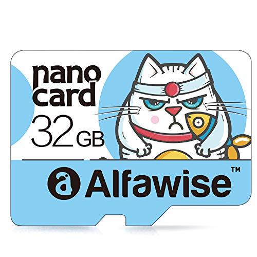 Alfawise A32 - Tarjetas microSD 32GB,Tarjeta de Memoria,Micro SD Clase 10 UHS-1 Tarjeta de Memoria Transferencia de Datos súper rápida de Alta Velocidad Lectura hasta 80MB /s