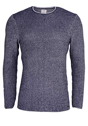 Olymp Level Five Smart Business Body fit Pullover Langarm meliert Navy Größe S