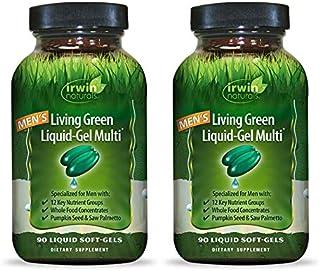 Sponsored Ad - Irwin Naturals Men's Living Green Liquid-Gel Multi - 70 Essential Nutrients, Full-Spectrum Vitamins, Wholef...