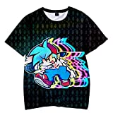 Friday Night Funkin Camiseta Cartoon Game Boyfriend Camiseta, Summer Casual Fashion Camiseta de Manga Corta Unisex